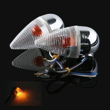 Motorcycle Clear Bullet Rear Turn Signal For YAMAHA XV1900 2006-2013 07 08 09 10 11 12 New