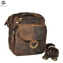 Leder Rindsleder Gürteltasche Telefon 100% Echtem Leder Lässig Taille Reisetaschen herren Gürtel Hüfte Taschen Männer Messenger Bags