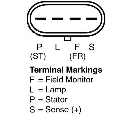 4 pin gm alternator Schaltplang