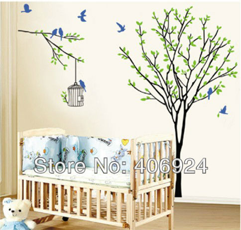 sticker arbre chambre bb mme esprit potique mais davantage destin la chambre de bb pour ce. Black Bedroom Furniture Sets. Home Design Ideas