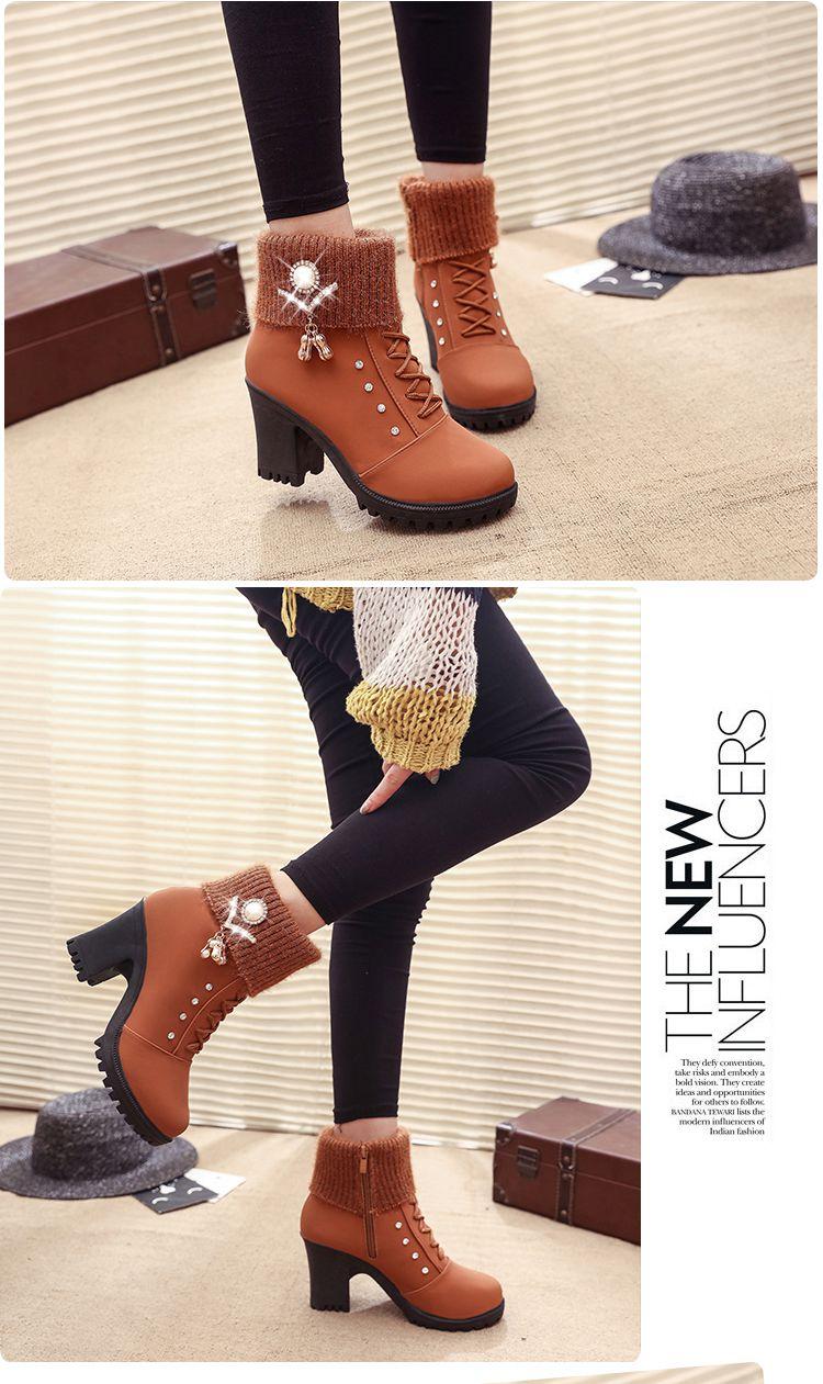 botas de salto alto inverno sapatos femininos