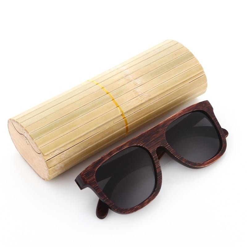 EZREAL šaunūs mediniai bambuko saulės akiniai vyrams Mediniai - Drabužių priedai - Nuotrauka 5