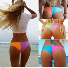 6 Color Sexy Multi-Color Bikini Neon Thong Bottoms Swimwear