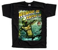 Mensen Zijn Onder Ons Sci Fi Poster T-shirt Zwart Groen Alle Maten S 4Xl