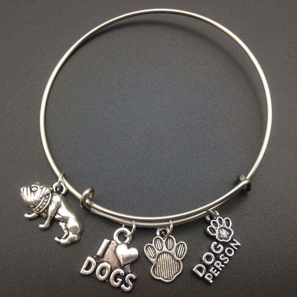 NEW TIBETIAN SILVER LOVELY SILVER HOUND DOG  CLIP ON CHARM FOR BRACELETS