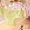 Cuecas Da Menina do Algodão Roupa Interior Das Mulheres Grade Rendas Arco Calcinha Íntimos Encantadores Cueca XL