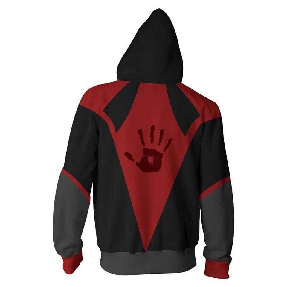 2019 3D Cetak Baru Elder Scrolls Dark Brotherhood Berkerudung Panas Lengan Panjang Zipper Hoodie Cosplay Sweatshirt Jaket