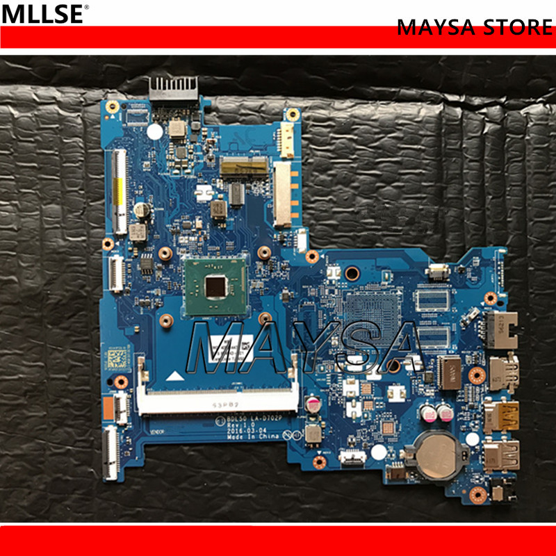 854943-601 FOR HP 15-AY series laptop motherboard BDL50 LA-D702P N3710 mainboard 854943-001 notebook PC laptop motherboard 605903 001 fit for hp g62 cq62 notebook pc mainboard ddr3