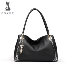Hot Sale FOXER Fashion Designer Brand Women Genuine Leather Vintage Handbags Ladies Shoulder Bags Tote Bag Retro Messenger Bags