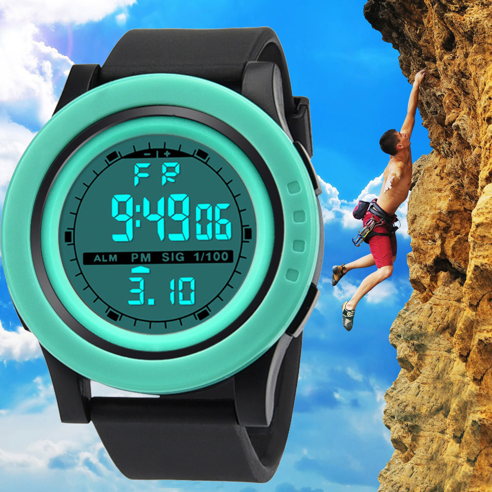 Digital Watch Luxury Men Analog Digital MilitaryArmy Sport LED Waterproof Wrist Watch Reloj Digital Hombre