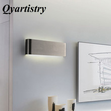 Modern minimalist LED aluminum lamp bedside wall room bathroom mirror light direct creative aisle 110-240V