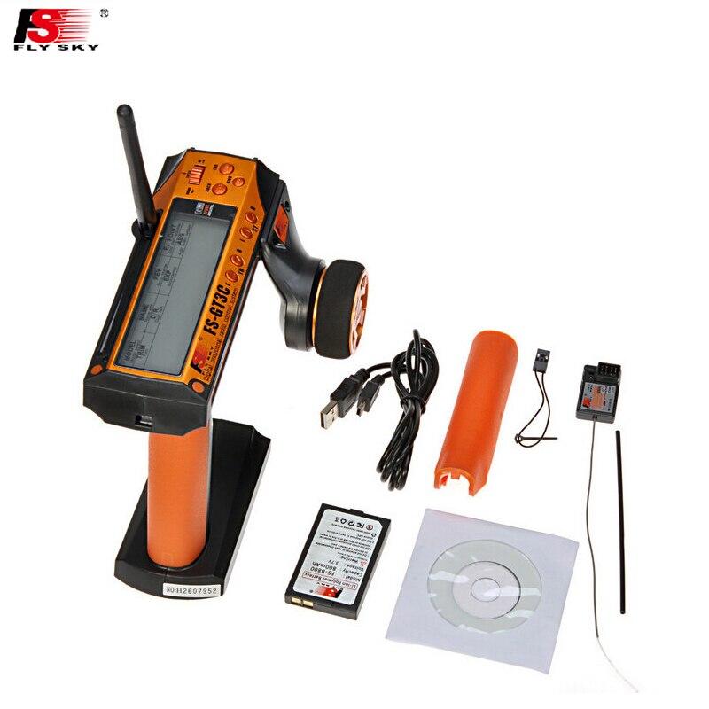 Wholesale 1pcs Flysky FS-GT3C FS GT3C 2.4G 3CH RC CAR System /w battery GR3E Receiver Radio Controller Dropship