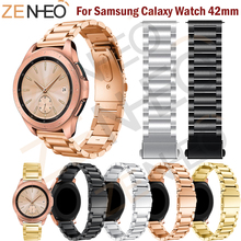 Metal Strap For Samsung Galaxy Watch 42MM band strap Stainless Steel Bracelet Huami Amazift Bip Replace Wristbands