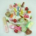 Bebê educacional toys criança strawbberry simulação creme bolo de aniversário de madeira brinquedo pretend play kitchen toys presente de aniversário infantil