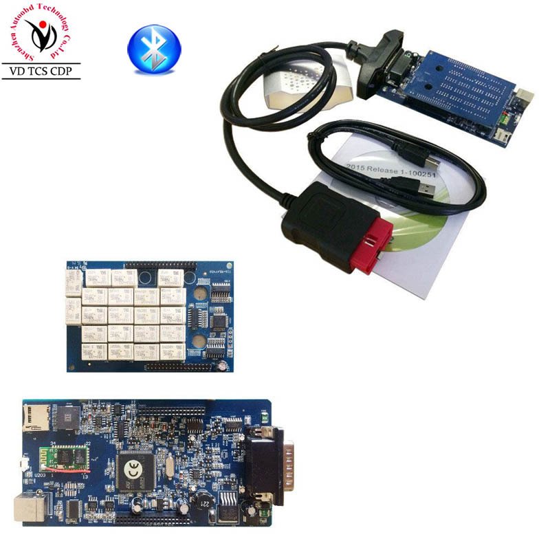2015.R3/ 2016.R0 Software New vci with Bluetooth VD TCS CDP Pro Plus Best TWO PCB Chip Generic 3 in1 for OBD2 OBDII Cars Trucks цены