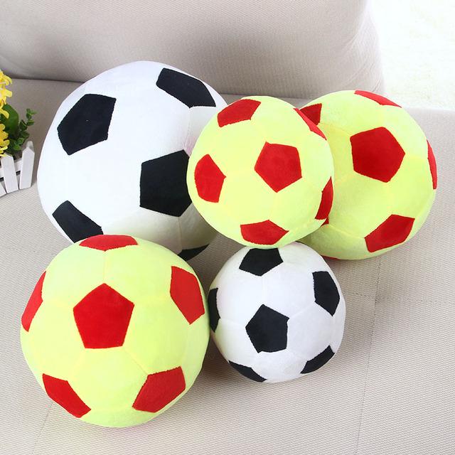 Patchwork Football Shape Cushion Pillow Soccer Ball For World Cup Stuffed Kids Plush Doll Toys