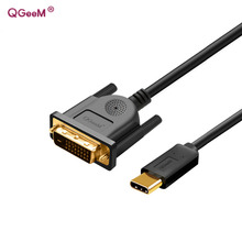 QGeeM usb c To dvi cable type c to dvi adapter Thunderbolt Compatible for MacBook Pro 2016 2017,galaxy S8 Note8,huawei mate 10