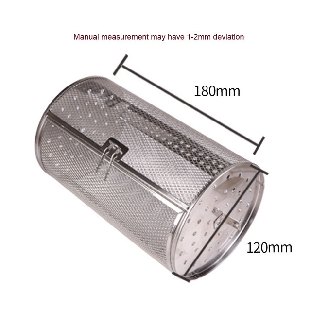 12X18CM Stainless Steel Oven Drum Parts Grilled Cage Rotary Oven Mesh Barbecue Roasted Coffee Bean Nut Walnut Roaster Cage
