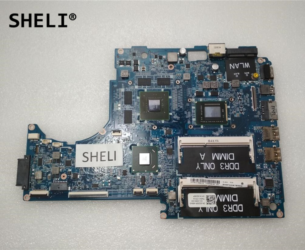 SHELI For Dell 15z L511z Motherboard with I5-2450M DASS8BMBAE1 CN-0CD50P CN-0YHJDK CD50P / YHJDK x9681 0x9681 cn 0x9681 motherboard for optiplex gx620 dt 100