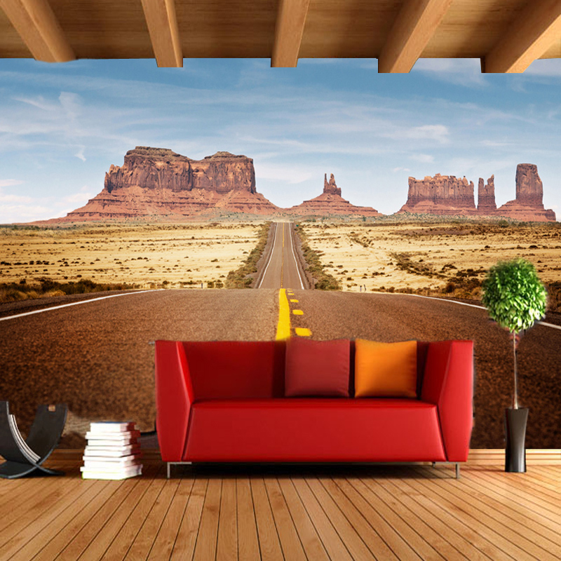 Online get cheap wallpaper desert for Desert wall mural