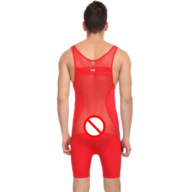 KWAN.Z corset for men ice silk mesh breathable t shirt shaper bodysuit men high elasticity transparent sexy undershirt vest