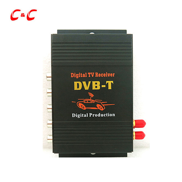 Car DVB-T H.264 MPEG4 Mobile External Digital TV Receiver  Box  with TV Antenna English OSD, Remote Control