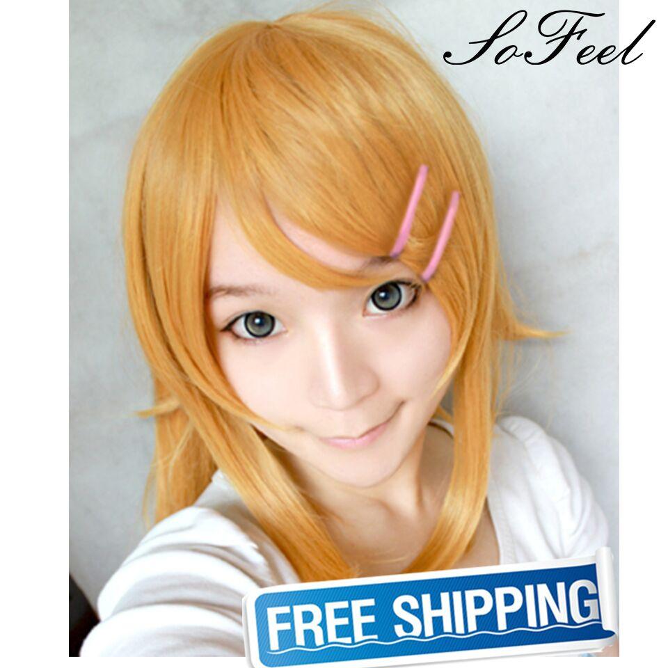 Sofeel goods in stock ore no imouto ga konnani kawaii wake ga nai Kousaka kirino with  hairpin cosplay wigs