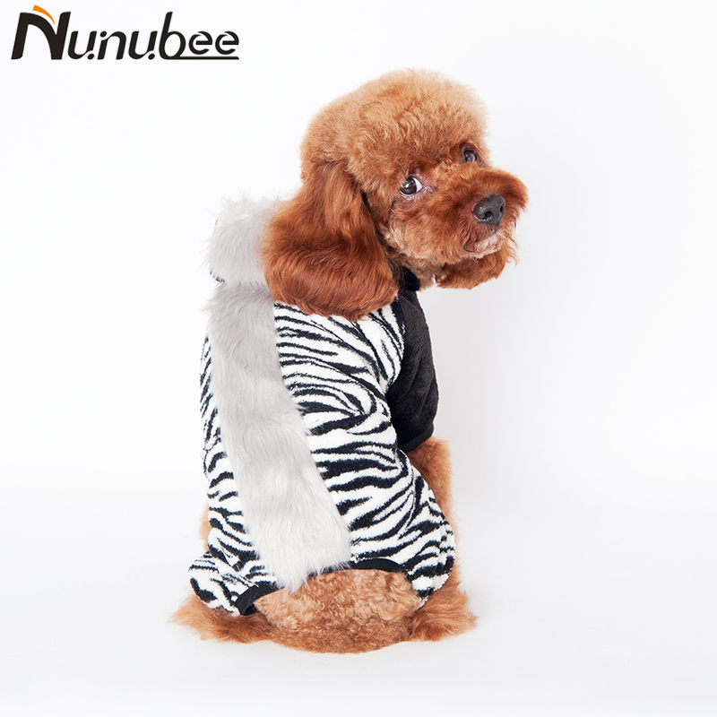 Nunubee Funny horse turned small dog clothes winter warm pet four legs Clothing hoodie dog coat jacket pet costumes S-2XL