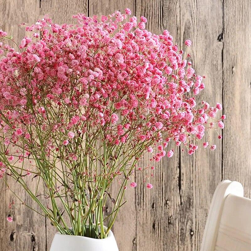 Real Dried Flower Babys Breath Gypsophila Flowers Bouquet Wedding Home Decors~