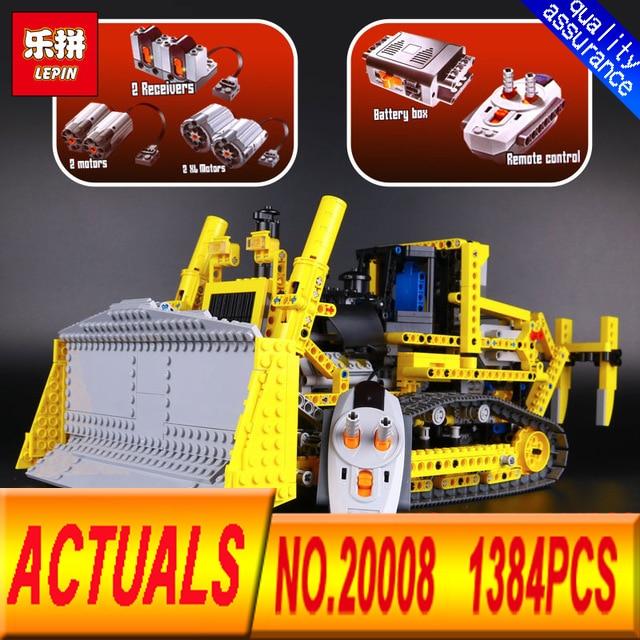 New  LEPIN 20008 technic series 1384pcs the bulldozer Model  Building blocks Bricks kits Compatible 8275 for brithday gifts new lp2k series contactor lp2k06015 lp2k06015md lp2 k06015md 220v dc
