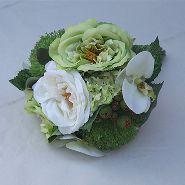 Beautiful Wedding Flowers Bridal Bouquets Handmade for Bridesmaid Green Yellow Pink Purple In Stock Fast Shipping
