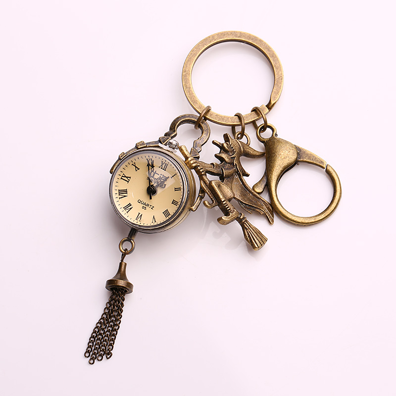 Kupla Tassels Pocket Watch Keychain for Women Witch Keychains Fashion A