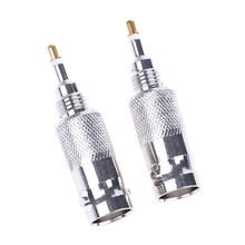 2Pcs BNC Female Plug for radio GP300 HT750/1250 EX600 GP68 Antenna Adapter Connector Converter(China)