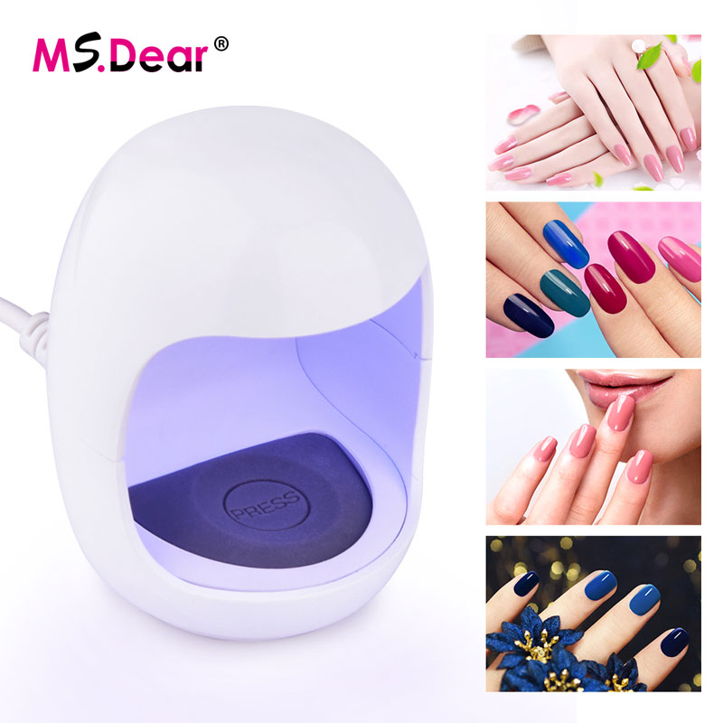 3W USB Portable Mini Nail Dryer One Finger LED UV lamp for Curing Gel Varnishes Lacquer Polish Manicure Machine Nail Art Tools