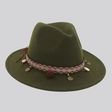 Women Men Fedora Hat Black Red Bohemia Felt Hats Me