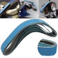 5pcs Mixed Grit Linishing Sanding Belts Zirconia Alumina 40 60 80 120 Grit 915mm 50mm For