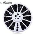New Mix 3 tamaños Negro 3d Del Clavo Del Rhinestone Perlas Flatback Art Nail Sticker Consejos Rueda Decoración