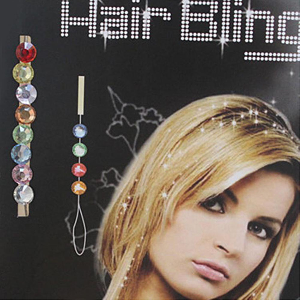 New Fashion Women Diamond 8 Crystals Clip Swirl Spiral Bling Hair Pin W/ 6 Color
