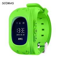 SCOMAS Q50 Intelligent Montre-Bracelet avec Anti-perdu GPS Tracker SOS Appel emplacement Intelligent Montre Téléphone pour les Enfants Carte SIM Wathes pour Enfant