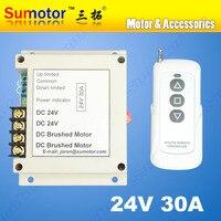 Comprar 24V CC 30A MOTOR interruptor de control remoto inalámbrico inversor actuador lineal cortina eléctrica/pantalla garaje carrera abierta limitada