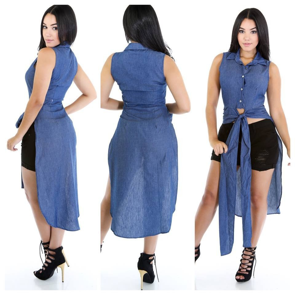 Aliexpress.com : Buy Olrain Summer Style Women Denim Shirt Dress ...