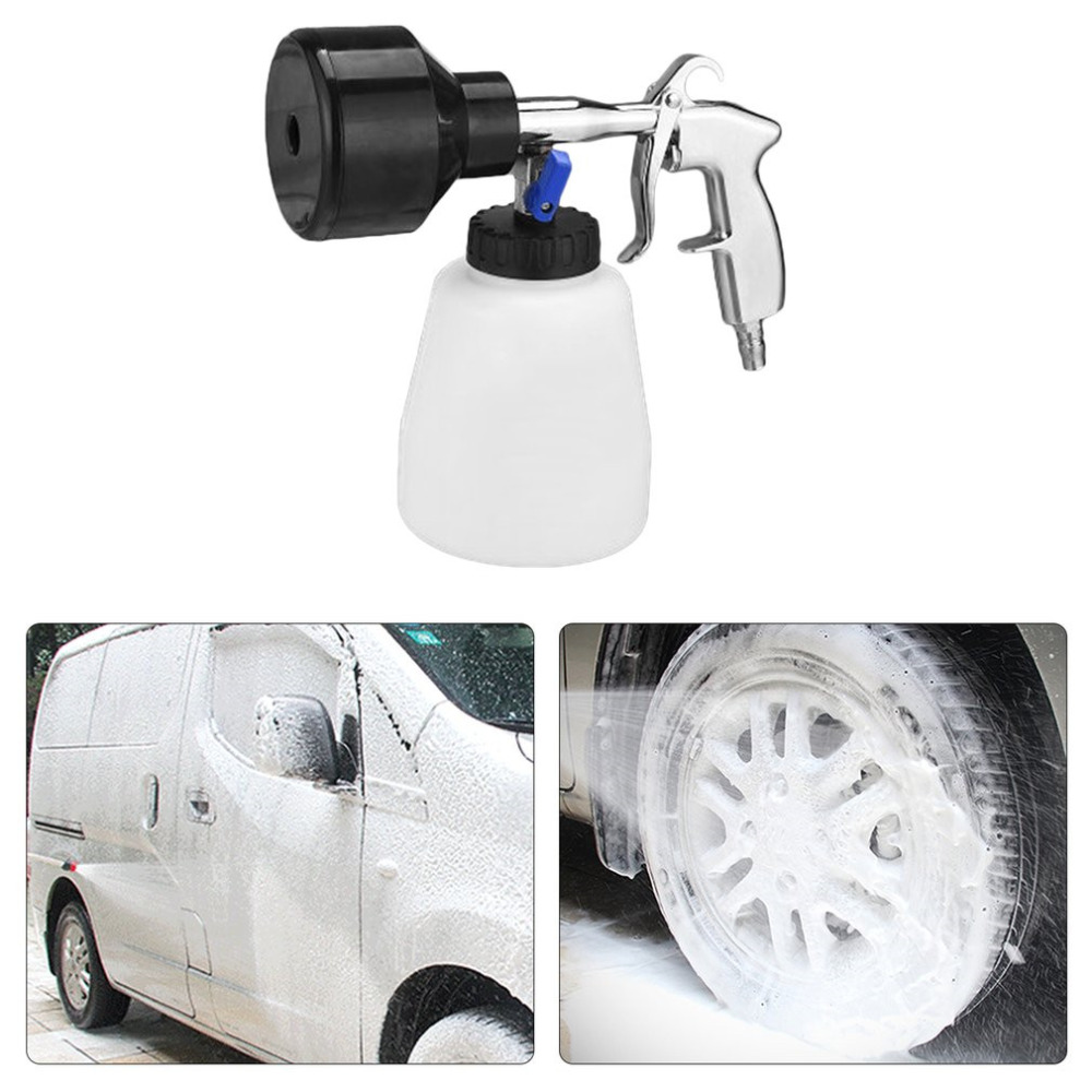 New Protable Car Washer High Pressure Tornado Foam Lance Interior Deep Cleaning Gun Car Cleaning Tool With Brush Drop Shipping high pressure air pulse car cleaning gun with brush multifunctional surface interior exterior cleaning kit eu type fast cleaning