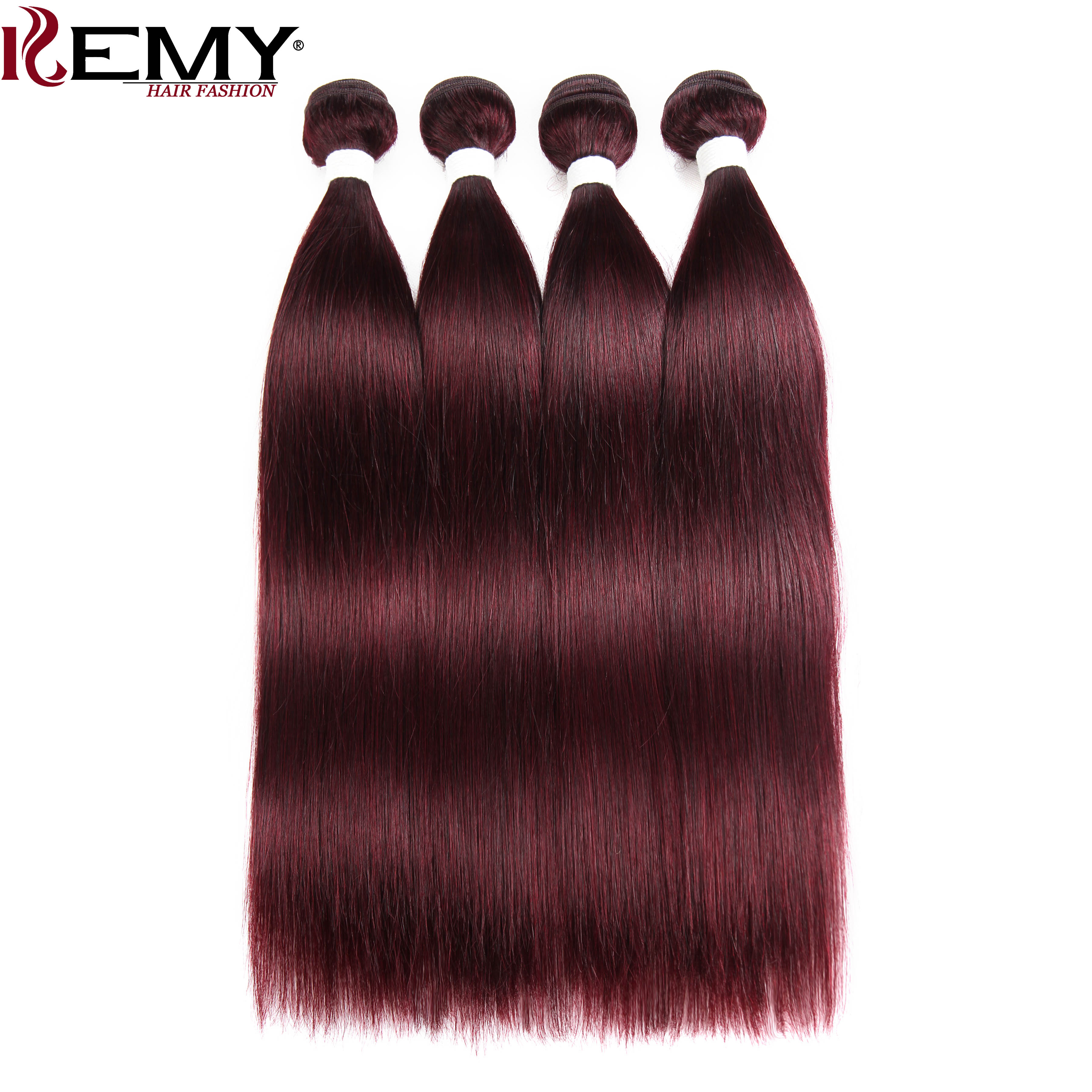 99J/Burgundy Red Color Human Hair Bundles Deal KEMY HAIR Brazilian Straight Human Hair Weaves 100% Remy Human Hair Extension