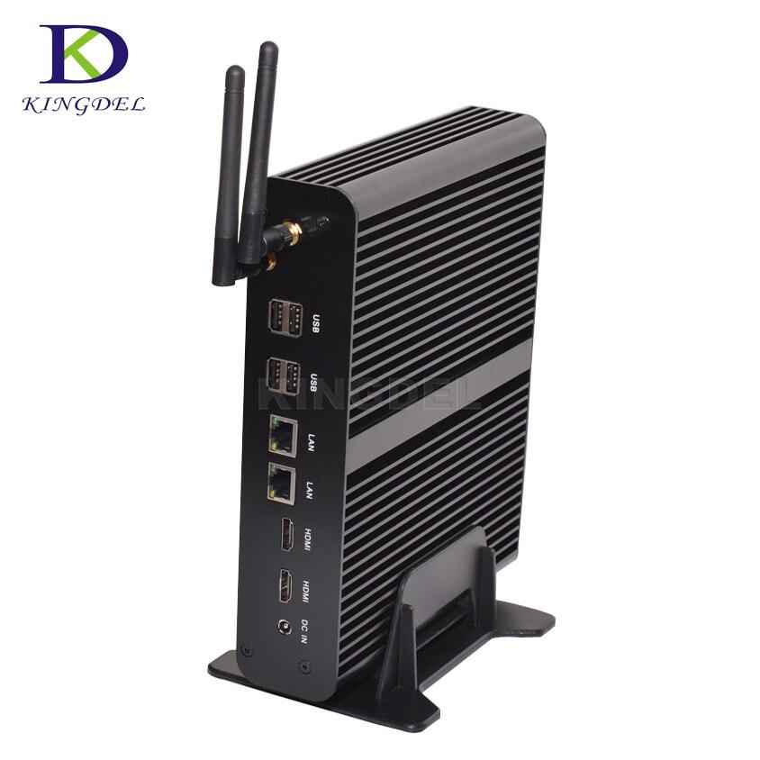 2017 Fanless HTPC  Intel Nuc Computer I7  4500U Graphics HD 5500 300M Wifi  Dual LAN 4K HD PC Portable TV BOX Mini Desktop PC