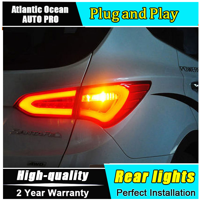 Car Styling LED Tail Lamp for Hyundai IX45 Taillights New Santa Fe Rear Light DRL+Turn Signal+Brake+Reverse auto Accessories led one stop shopping styling for ix45 led tail lights 2014 new santa fe ix45 tail light rear lamp drl brake park signal