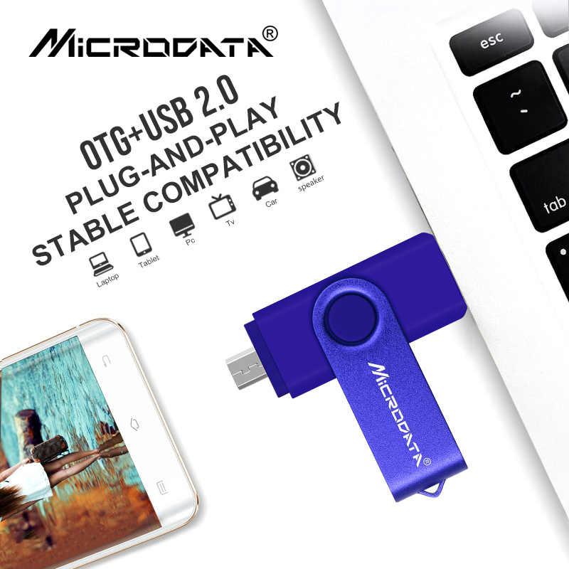 Cores Inteligente OTG USB Flash Drive gb 32 64 9 gb gb USB 2.0 memória Pen Drive gb 16 8 varas Flash Drive para Android tablet telefone Inteligente