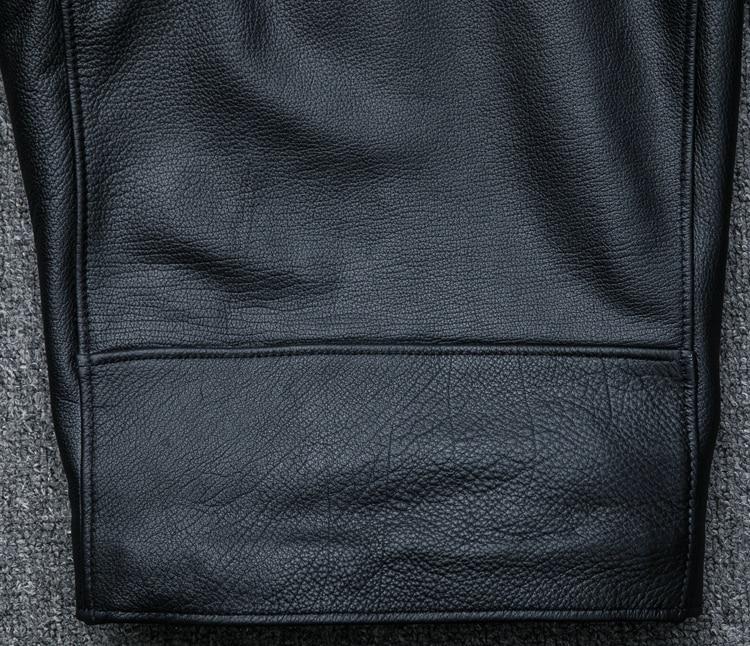 HTB1FkcYBIyYBuNkSnfoq6AWgVXau MAPLESTEED Classical Motocycle Jackets Men Leather Jacket 100% Natural Calf Skin Thick Moto Jacket Man Biker Coat Winter M192