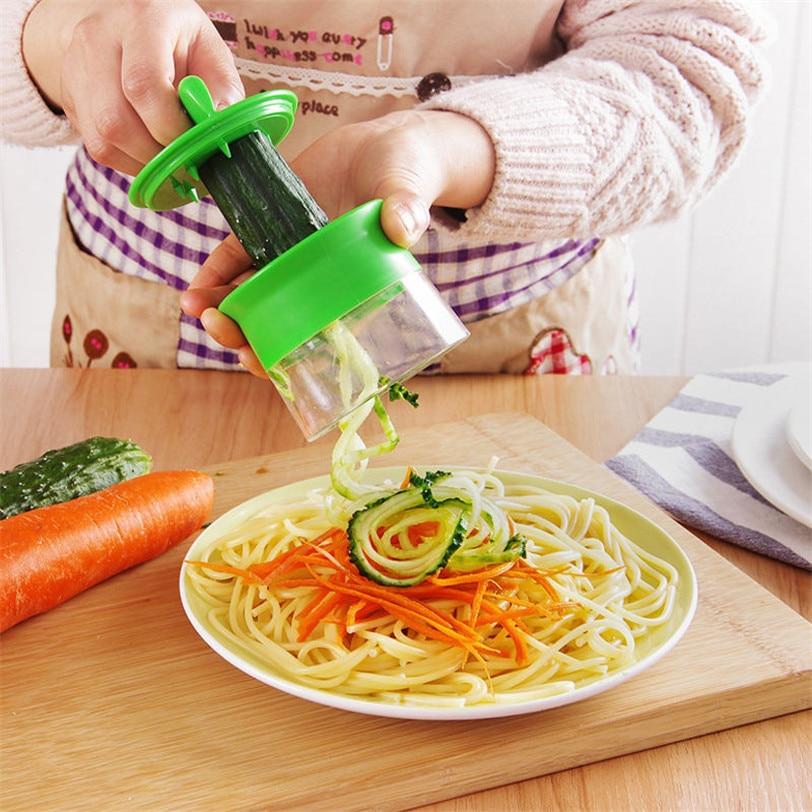 Espiral Vegetal Fruta Twister Slicer Cortador Rallador Pelador de Cocina Gadgets