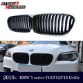 Substituição F10 Corrida ABS Grelha Frontal Dupla Slat Grelha Para BMW F10/F11 2010 + Gloss/Matte Black 520i 528i 535i 545i 550i