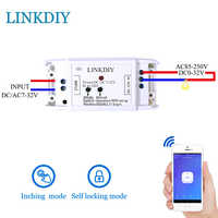 wifi switch wireless Relay module DC5V 12v 24v 32v Smart home Automation for access control systemr Inching/Self-Locking